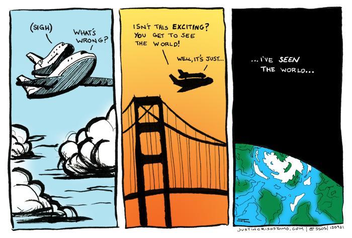 Endeavour Comic by Justin Crisostomo